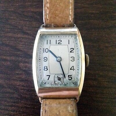 9 ct gold Art Deco period watch in great working condition