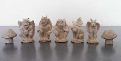 Gargoyles Fantasy chess set latex moulds