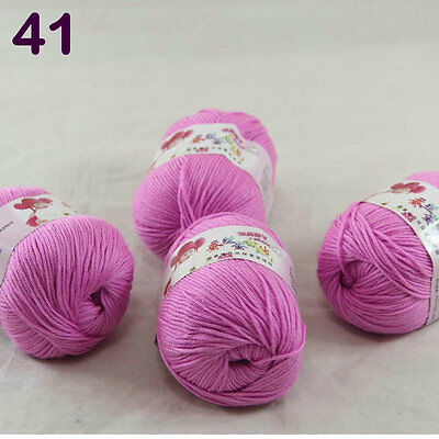 4ballsx50g Baby Cashmere Silk Wool Children hand knitting Yarn 1841 Violet