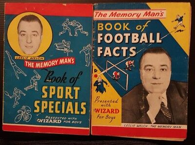 THE MEMORY MAN'S Book Of SPORT SPECIALS & FOOTBALL FACTS - WIZARD 1950s