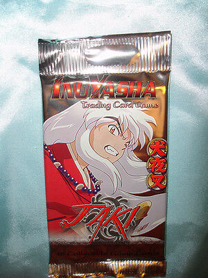 3x Inuyasha Jaki TCG/CCG sealed booster pack of cards