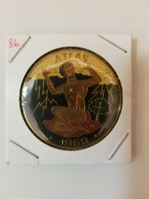 1986 Krewe of Atlas Multi Color Doubloon