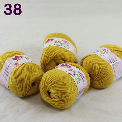 4ballsx50g Baby Cashmere Silk Wool Children hand knitting Yarn 1838 GoldEnrod