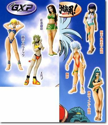 Tenchi Muyo Gashapon Capsule Figure Set of 6 ~ includes Ryoko & Aeka *authentic*