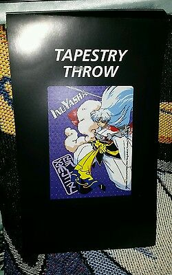 Inuyasha Sesshomaru Throw Blanket/Tapestry *VERY RARE* New in Package *AUTHENTIC