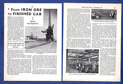 The  DAGENHAM FORD WORKS - Cars, Tractors  ect.   (1939 4-Page Review)
