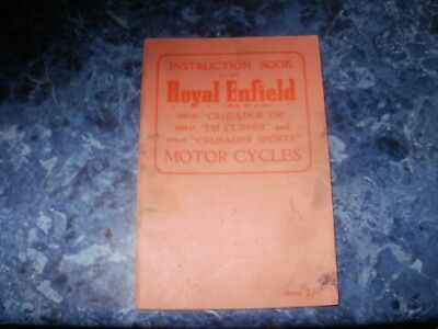 Royal enfield 250cc instruction book 1959 to 1961