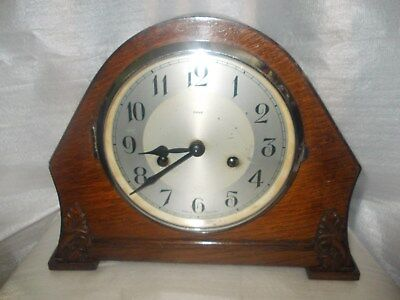 A Very Nice Enfield Mantel Clock Working But No Key, So Untested
