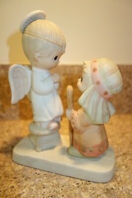 Jesus is Born  - Precious Moments -  Angel and Sheperd