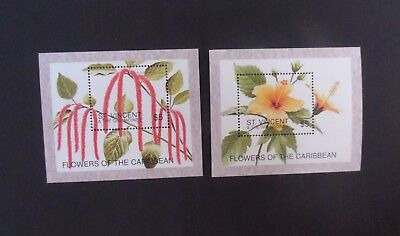 St Vincent 1996 flowers MS MS3471 MNH UM unmounted mint