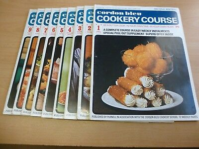 CORDON BLEU COOKERY COURSE 1-9 SECOND EDITION 1970's VINTAGE (ROASTING, PASTRY)