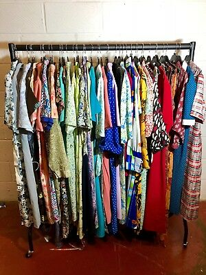 Joblot Wholesale Bundle 40 pcs UK Vintage Retro Ladies Dresses