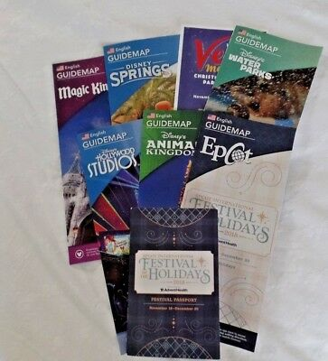 2018 Walt Disney World Theme Park Guide Maps Plus - Current 12/09