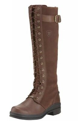 Ariat Coniston Waterproof insulated Long Zip Up Country Leather Boots UK 7