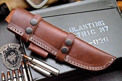 CFK Handmade 6-Inch Knife-Blade Horizontal / Vertical Leather Pouch Belt Sheath
