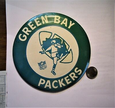 1960's GREEN BAY PACKERS football team BUTTON SIGN