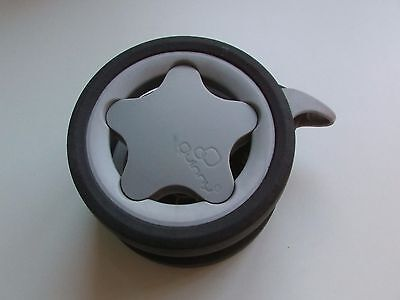 Genuine QUINNY Zapp/ Zapp Xtra/ Xtra 2- FRONT WHEEL silver for chassis pushchair