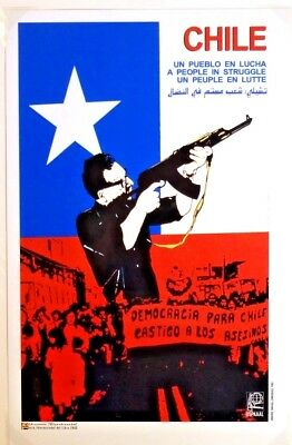 Chile Political Propaganda Poster - Cuban Solidarity [OSPAAAL Reproduction] MINT
