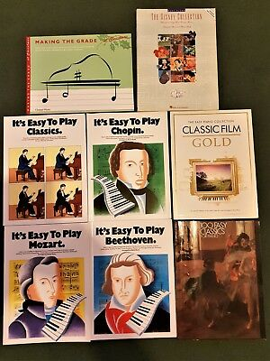 Bundle Of 8 Easy Beginners Piano Sheet Music Books Absolute Bargain Free Postage