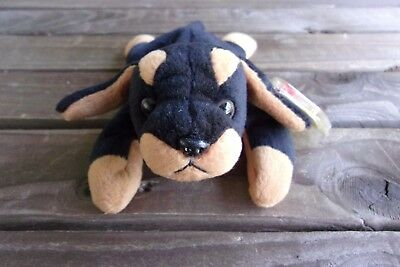 Doby The Doberman Dog Beanie Baby Vintage Ty Bean Bag Plush Babies