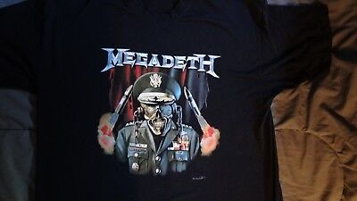 Megadeth Authentic Vintage General VIC XL Shirt Worn once
