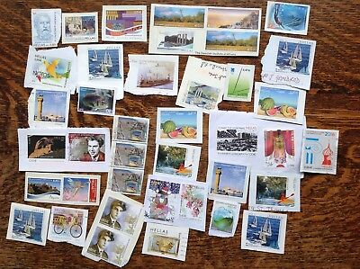 Collection Of Unfranked Greece Stamps On Paper