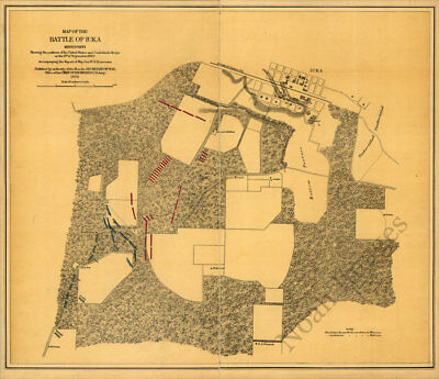 Map of the battle of Iuka MS c1876 repro 28x24