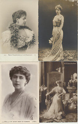 4 ROMANIA Royalty RPPC Marie Maria LOT 4