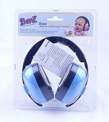 BLUE BABY BANZ - BABY MINI EARMUFFS EAR DEFENDERS .FIREWORKS  3 months +