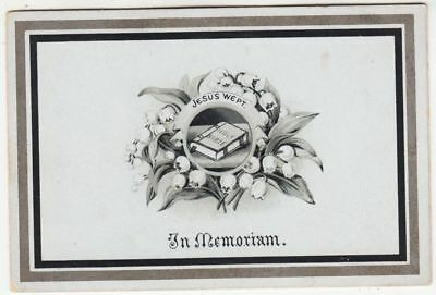 MEMORIAM CARD - Frank Chambers - Stamford - April 3rd 1890 - Death of Baby Son