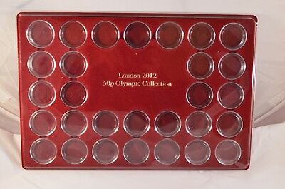 Quality coin trays London 50 pence Olympic empty or with capsules +plastic cover