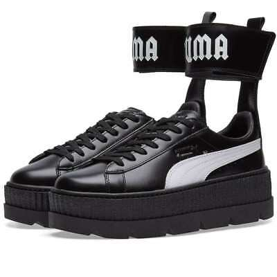best sneakers 1319a fcc4b PUMA FENTY X RIHANNA Leather Ankle Strap Creeper, Black (366264-03), UK 3  to 7