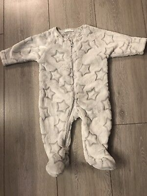 Next Baby 0-3 Months Fleece Sleepsuit, Light Use Only!