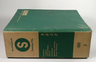 1965 Sweet's Architectural Catalog File Volume 9 vintage advertisements