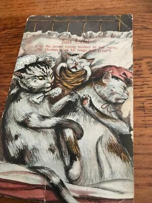 Louis Wain unsigned postcard  1912 just cats Fair Condition