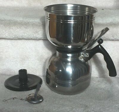 CORY Flavor-Seal Vacuum Brewer Stainless Coffee Pot, Stand, Filter