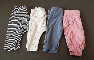 Next 4 pairs trousers leggings age 0-3 months