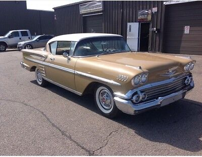 Chevrolet: Impala 1958 chevrolet impala 1958 CHEVROLET IMPALA 2DR COUPE ANNIVERSARY GOLD COLOR COMBO