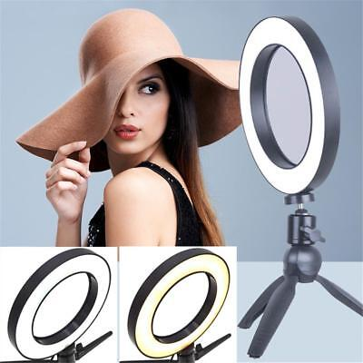 Dimmable LED Ring Light Lamp Photography Camera Photo Studio Phone Video