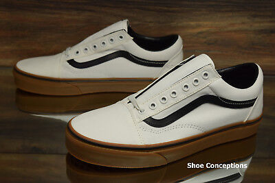 771eda86a7 Vans Old Skool (Gum) Blanc De Blanc Canvas Skate Shoes Men s Multi Size