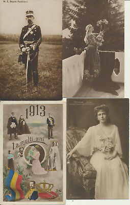 4 ROMANIA Royalty RPPC 1913 Maria Ferdinand Family LOT 14