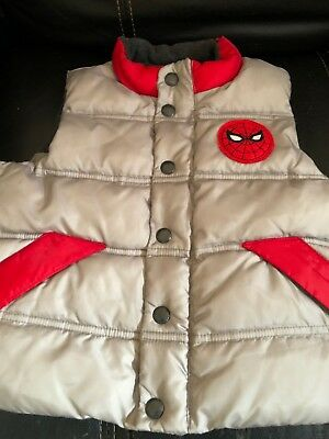 BabyGap Toddler Gray Spiderman Vest 2t