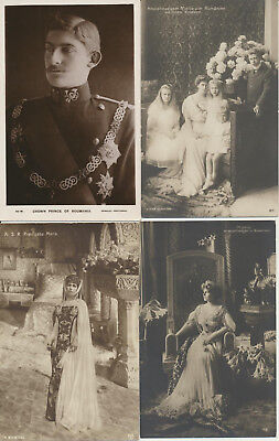 4 ROMANIA Royalty RPPC Maria Kindern Ferdinand LOT 18