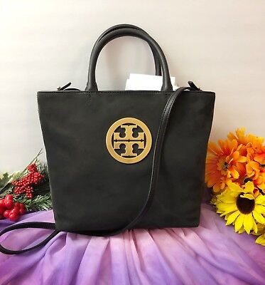 4df180c519e NWT Tory Burch Charlie Small Tote   Crossbody Bag in Black  FREE SHIPPING