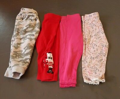 Next 4 pairs trousers leggings age 12-18 months