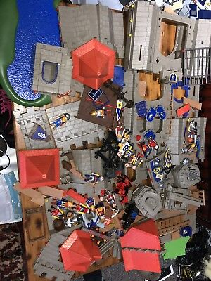 PLAYMOBIL MEDIEVAL CASTLE PARTS FIGURES HORSES used But In Good Condition