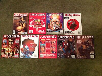 Vintage Judge Dredd The Megazine 2000AD Comic Progs Fleetway IPC Frank Quitely