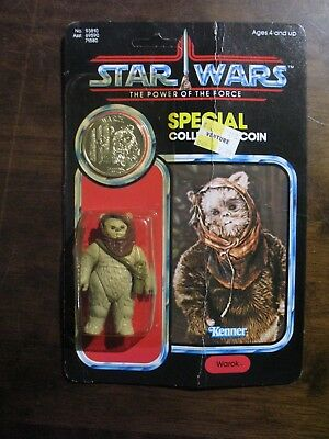 STAR WARS POWER OF THE FORCE EWOK ROMBA KENNER VINTAGE POTF NEW MOSC FIGURE Red