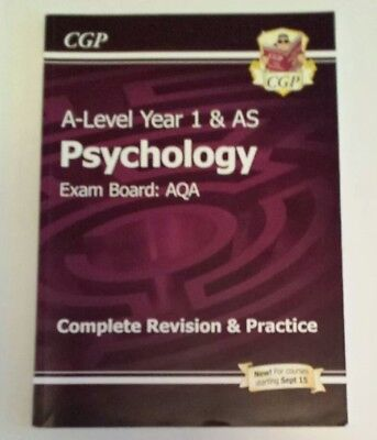 New A-Level Psychology: AQA Year 1 & AS Complete Revision & Practice by CGP Boo…