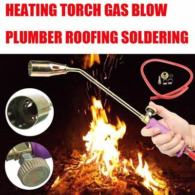 Flame Blow Torch Gas Soldering Rubber+Brass Heating Universal Professional New
